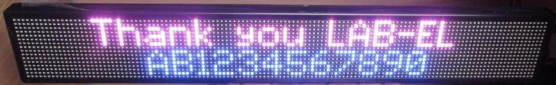 Kolorowy wyświetlacz tablicowy LED LB-114