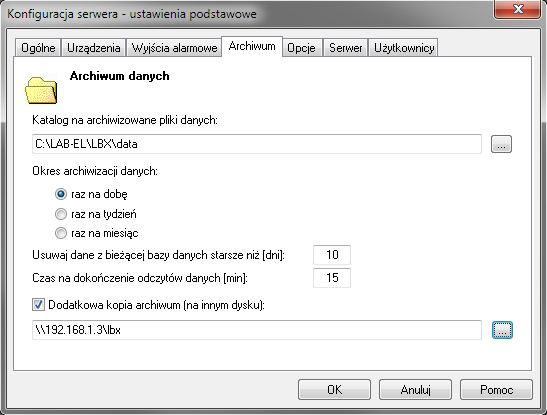 Program LBX - dane archiwalne