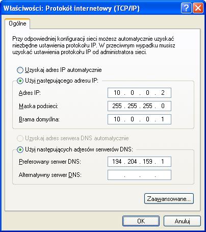 Konfiguracja TCP/IP