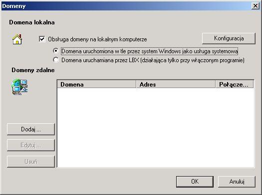 Program LBX - lista serwerów