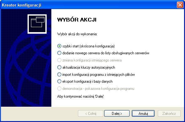 Kreator konfiguracji systemu monitoringu