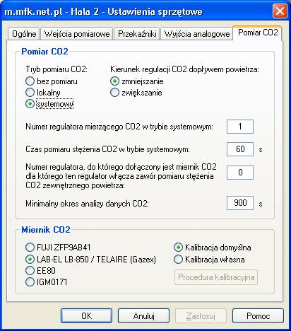 Regulator LB-760A - ustawienia pomiaru co2