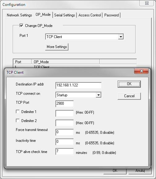 Konwerter ethernet - client