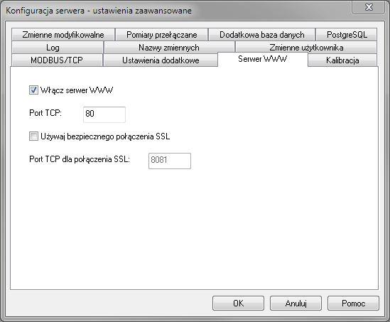 Serwer LBX - konfiguracja WWW