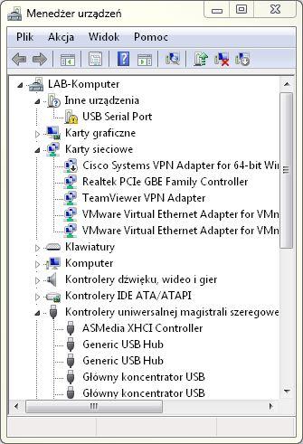 Instalacja USB - instalacja wirtualnego portu szeregowego