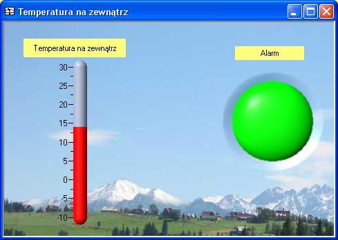 Ekrany synoptyczne, monitoring temperatury