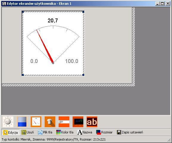 Konfiguracja ekranu synoptycznego