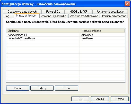 Serwer LBX - konfiguracja zmiennych